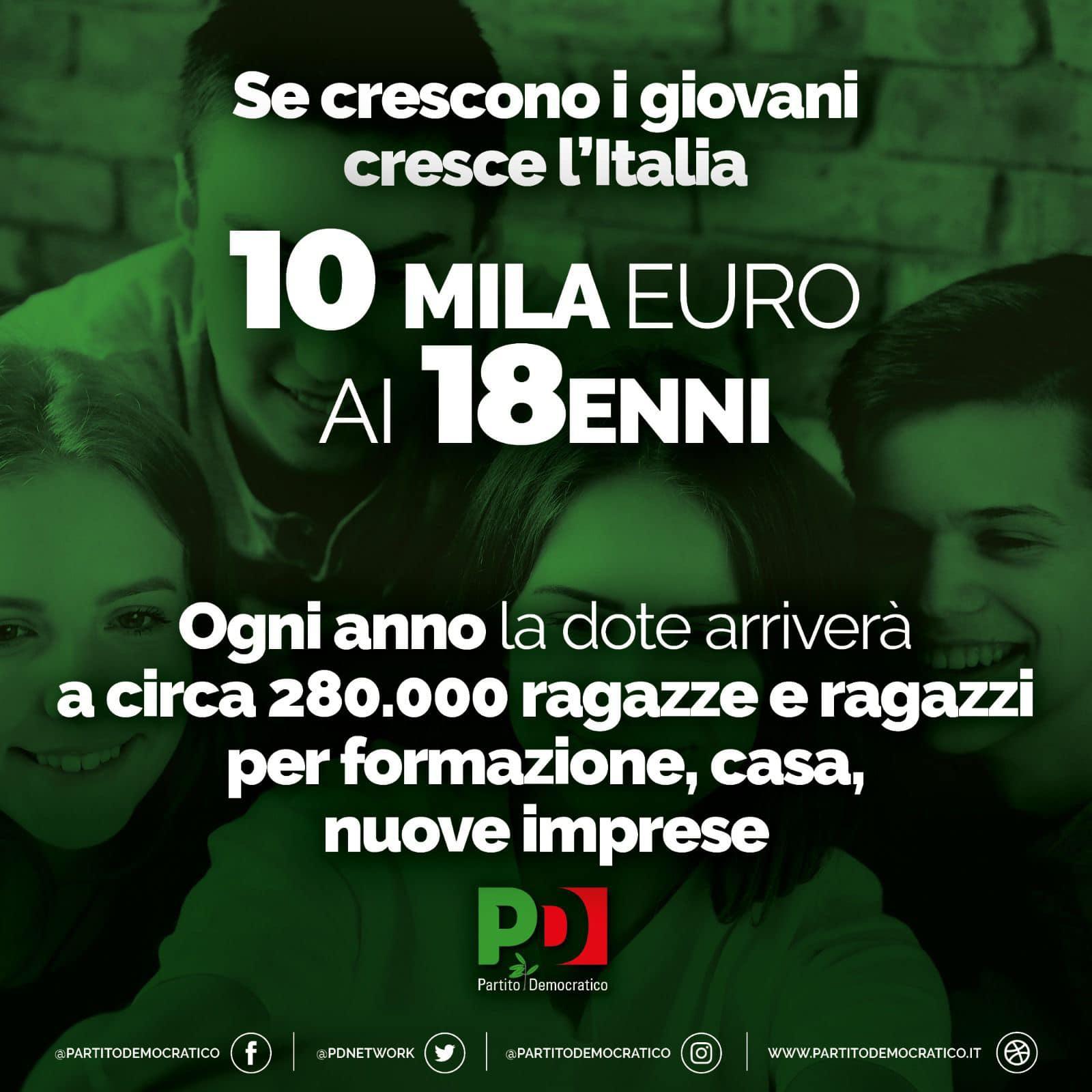 10 mila euro ai 18enni
